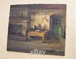 Old Oil On Canvas Signed Denis Brunaud 1950
