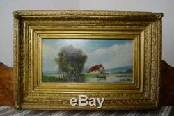 Old Oil On Panel Trybarde Painting Landscape Painting XIX XX