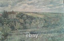 Old Oil Painting On Canvas Landscape Pyreneesoriginal. René Gaston Lagorre