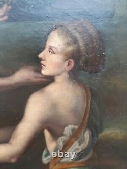 Old. Oil Painting On Canvas. Mythological Scene. Classic New. End 18th