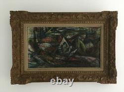 Old Oil Painting On Canvas Signed P Truth