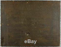 Old Oil Painting On Wood Original Nineteenth Century Flemish Landscape
