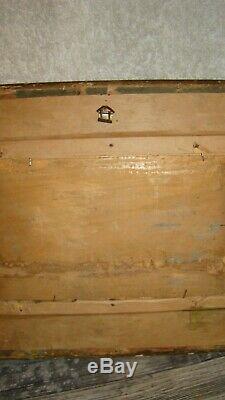 Old Oil Painting On Wood Panel Sedan Meuse XIX Has Even