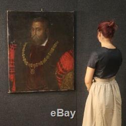 Old Oil Paintings On Canvas Noble Man Portrait Nineteenth Century 800