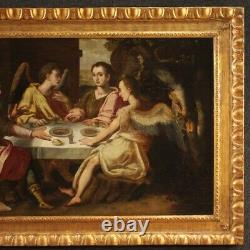 Old Oil Paintings On Panel With Religious Frame 700 18th Century