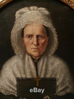 Old Paint, Oil On Canvas, Portrait Of A Woman S XIX