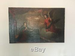 Old Paint Religeuse XVII Century. Oil On Canvas. Italian School