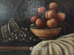 Old Painting Late Nineteenth Oil On Canvas Still Life Signed D. Cantadori Ok State