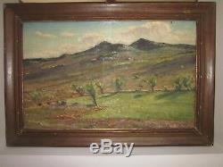 Old Painting Oil On Canvas Auguste Roure