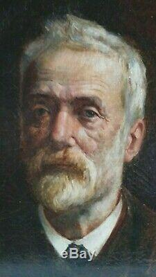 Old Painting Oil On Canvas Beautiful Portrait Ingres French School