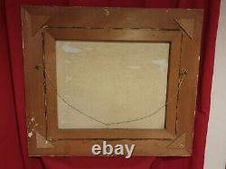 Old Painting, Oil On Canvas, Fisherman, Signed And Framed