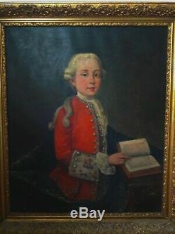 Old Painting Oil On Canvas Portrait Late XVII Century Early XVIII