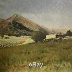 Old Painting Oil Painting On Canvas Landscape Painting Signed Dated Work 800