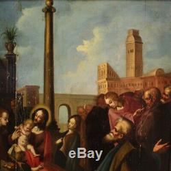 Old Painting Oil Painting On Panel With Religious Frame 600 17th Century