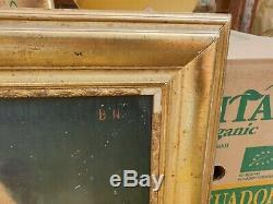 Old Painting, Portrait, Painting, Oil On Canvas, Sign, Wood Frame Dore, Man