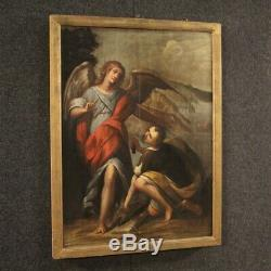Old Painting Religious Painting Oil On Panel Frame Tobias And The Angel 600