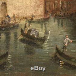 Old Paintings Venice Oil On Canvas With Gilded 19th Century Frame 800