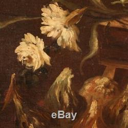 Old Picture Frame Still Life Oil Painting On Canvas 700 18th Century