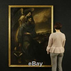 Old Spanish Painting Oil Painting On Canvas Religious St. Francis 600