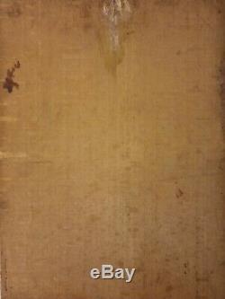Old Table 19 Eme Portrait Oil On Panel Wood