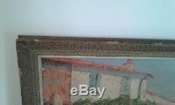 Old Table Oil On Canvas Street Pierre-paul Saint Tropez Emiot 19th