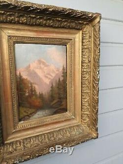 Old Table, Oil On Panel, Mountain Scenery XIX S, Signed