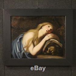 Old Table Religious Magdalene Oil Painting 700 18th Century