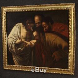 Old Table Religious Oil Painting Thomas 17th Century