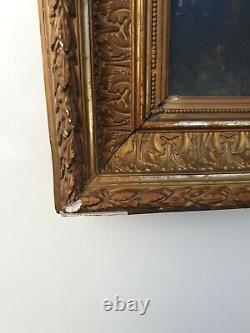 Old Woman Portrait, Oil On Canvas, Gilt Frame, End Of XIX Th Century