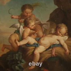 Painting Ancient Angels Oil On Canvas Painting 800 19th Century French Art