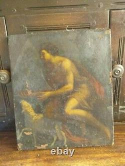 Painting Ancient Religious Oil Painting On Canvas Circa XVII School Poussin