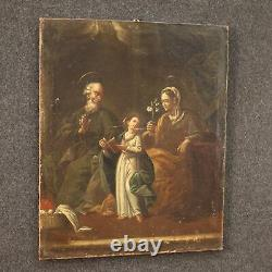 Painting Ancient Religious Painting Oil On Canvas 700 18th Century Sacred Art