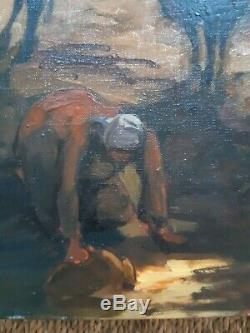 Painting Of Charles Guillaud (1925-2014) Oil On Canvas Former Table