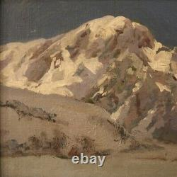 Painting Oil Painting On Canvas Landscape Mountain Style Old Frame Signed 900
