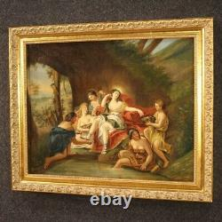 Painting Old Painting Oil On Canvas Diane With Nymphs 800 19th Century