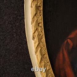 Painting Old Painting Oval Oil On Canvas Frame 700 18th Century