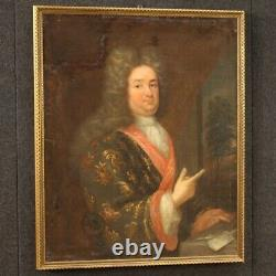 Painting Portrait Old Oil Painting On Canvas French Frame 18th Century