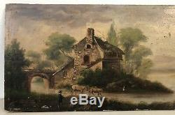 Painting XIX Old School French French Painting Oil On Panel Does