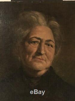 Portrait Oil On Canvas Old Reentoile