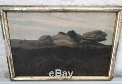 Pretty Table Oil On Canvas Signed Former 1903