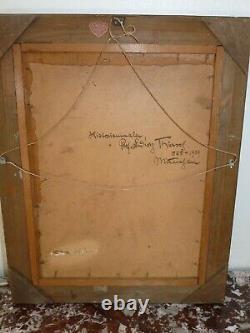 Rare Old Oil On Cardboard By Ludwig Thiersch (1825-1909) Munich München