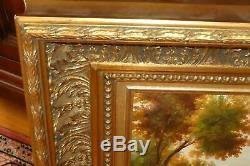 Rare-oil On Canvas Signed Veronesi Table Frame Old Wood, Gold Leaf Gold