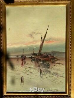 Savigny Nickname Malfroy Henry Beautiful Navy Old Oil On Canvas