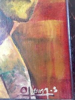 Sublime Oil On Canvas Ancient Maternity Fauvist Cubist C. Jean Metzinger
