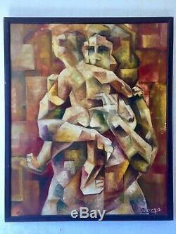 Sublime Oil On Canvas Old Maternity Fauvist Cubist John C. Metzinger