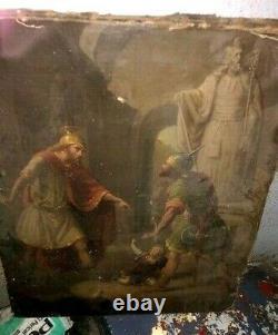 Super Oil On Canvas Scene Of Warrior Ancient