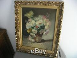 Superb Picture Old, Oil On Canvas With Beautiful Wood Frame Signed