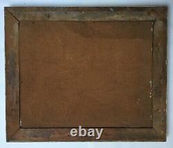 Table Former, Oil On Board, Still Life Fish Crustaceans, Box, Twentieth