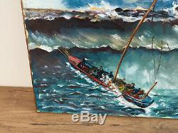 Table Former Oil On Canvas Lesto 78 (xx-s) Navy