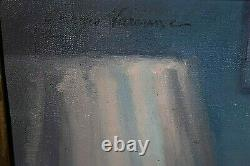 Table Former Oil On Canvas Nude Signed George Varenne Early Twentieth Art Deco Blue